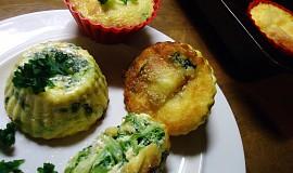 Špenátové košíčky s vejcem a sýrem