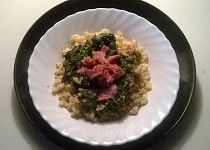 Těstoviny se špenátovou omáčkou