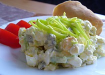 Vajíčkový salát s cottage sýrem