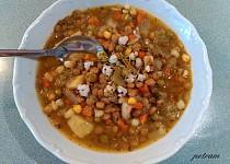 Hustá polévka se slzovkou