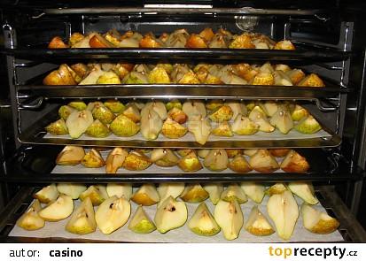 Jablka pro výrobu müsli (sušení v troubě)