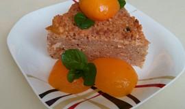 Jáhlový nákyp se šmakounem, meruňkami a brusinkami
