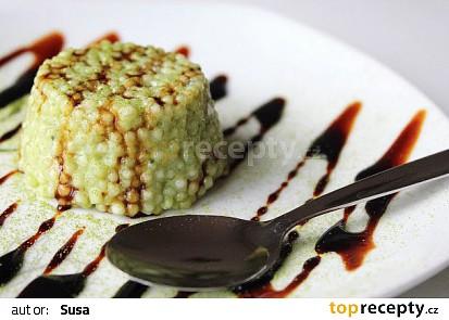 Matcha tapioca pudink