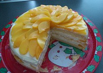 Snadný broskvový dort