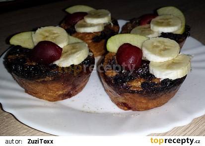 Třešňovo-borůvkové mufiny ke snídani