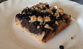Borůvkový koláč s mákem