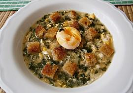 Česneková polévka s vejci