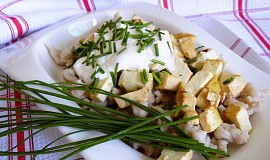 Halušky ze žitné mouky s tofu