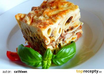 Pasticcio di pasta (Těstoviny zapečné s ragú a sýrovým bešamelem)