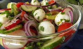 Jarní salát z mozzarellou