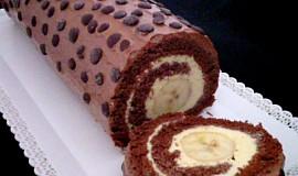 Kakaová roláda s banánem č.II