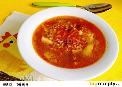 Polévka z pohanky a fazolí