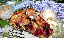 Šťavnatý rebarborový koláč ze špaldy a jogurtu