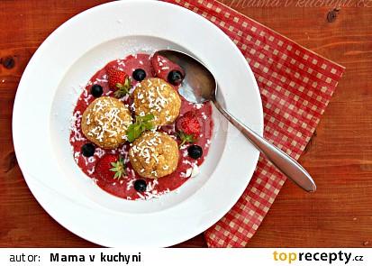 Celozrnné jahodové knedlíky