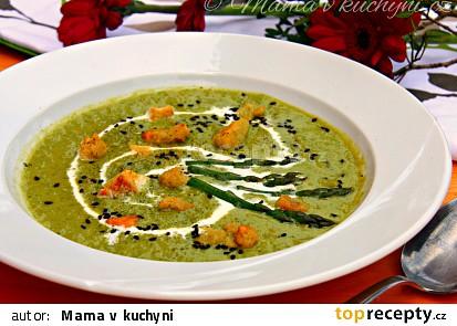 Chřestovo-hrášková krémová polévka