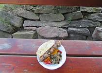 Kuličky z mletého masa s česnekem a rozmarýnem