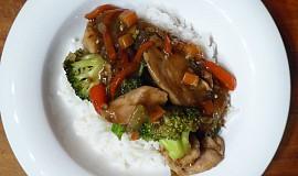 Kuřátko na zelenině s rýží