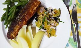 Makrela na pánvi s pomerančovou salsou