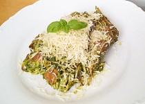 Smetanové těstoviny zapečené s bazalkovým špenátem