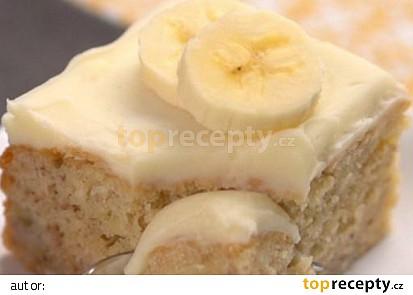 Banánová buchta s krémem