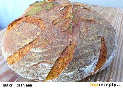 Chleba malovaný bylinkami