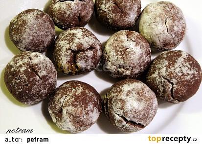 Čokoládové bochánky crinkles bez lepku, mléka a vajec