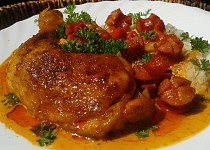 Kuřecí stehna s debrecínskou chutí