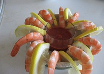Lehký krevetový koktejl pro dva
