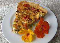 Quiche-slaný koláč se zakysanou smetanou