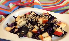 Salát z červeného zelí se slunečnicovými semínky