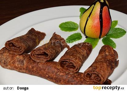 Celozrnné čokoládovo - hruškové palačinky