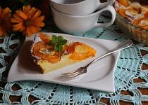Francouzský dezert  Flaugnarde s meruňkami