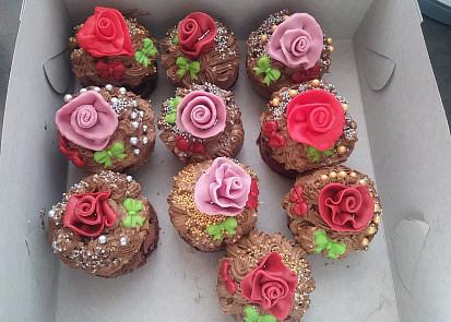 Narozeninové pařížské muffinky:)