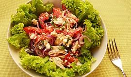 Skorořecký kuřecí salát s rajčaty