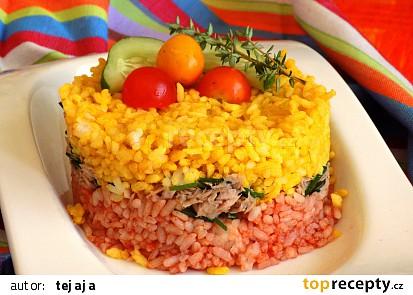 Barevná rýže s tuňákem