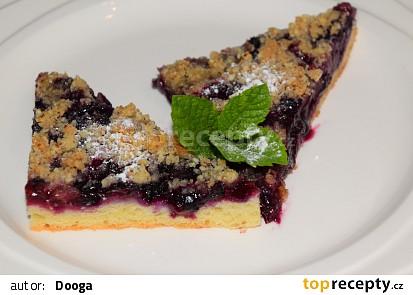 Borůvkový koláč s mandlovou drobenkou