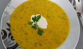 Dýňová polévka s citronovou šťávou