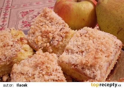 Hruškovo-jablečné řezy s kokosovou drobenkou