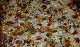 Pizza na cuketovém těstě bez mouky