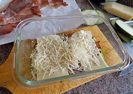 Prokládaná cuketa se sýrem a Schwarwaldskou šunkou