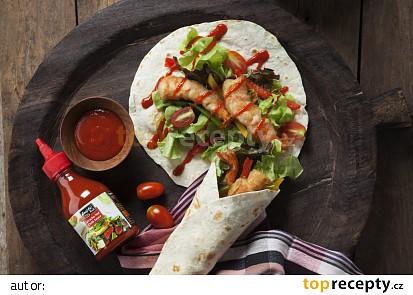 Tortily s krevetami a Sriracha omáčkou