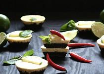 Tvarohové dortíčky s chilli a limetkami
