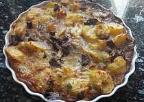 Zapečené brambory s žampiony a čerstvým libečkem