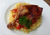 Kuře na smetanové zelenině