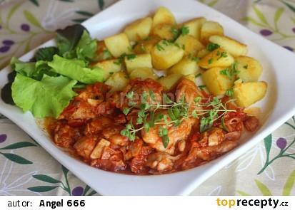 Kuřecí pánev s rajčaty