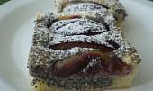 Makový koláč s ovocem