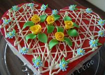 Nepečený tvarohový dort