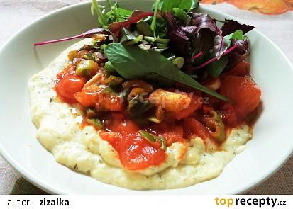 Vaječná polenta s rajčaty po provensálsku
