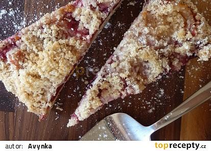 Kynutý švestkový koláč bez kynutí