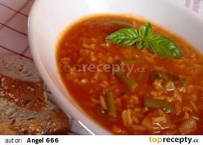Letní zeleninová polévka s fazolkami